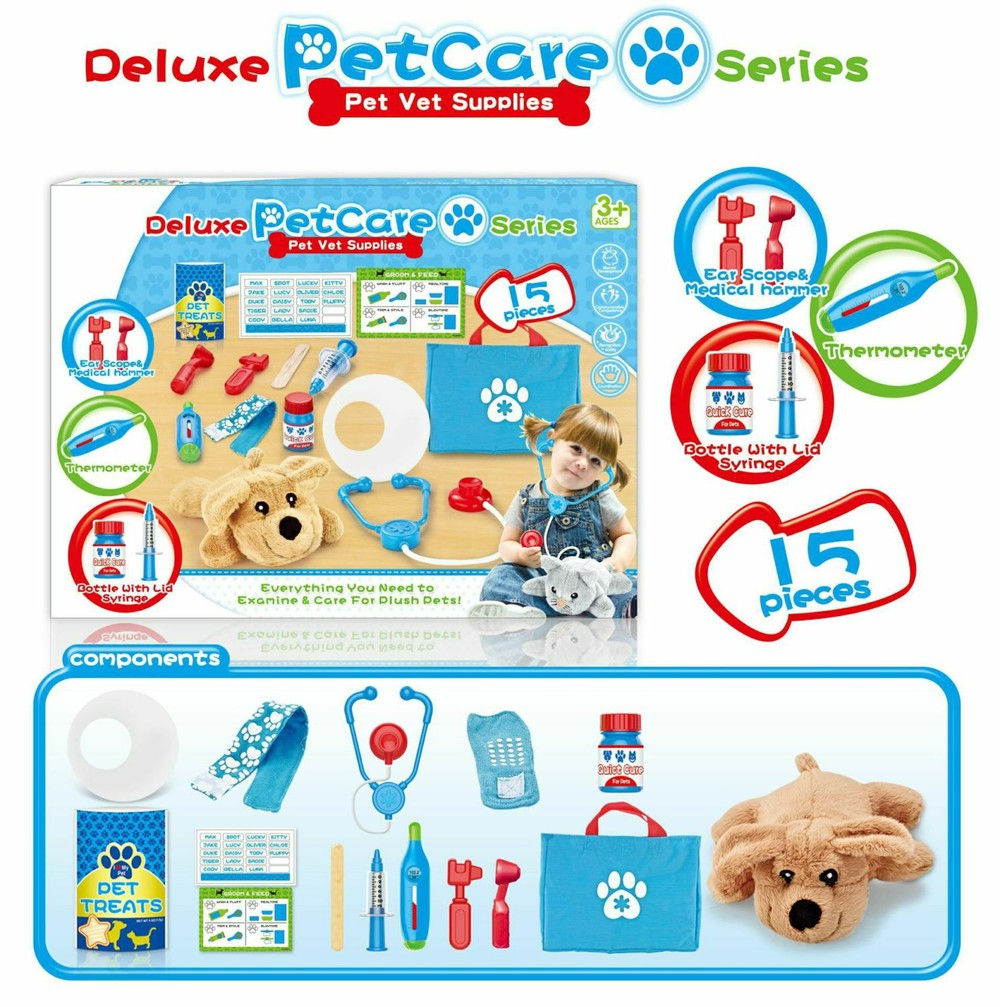 Pretend Toy Pet Dog Vet. Grooming & Feeding Supplies Custom Rc Cars