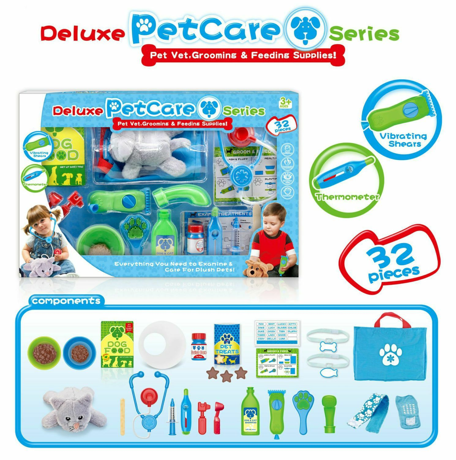 Custom Rc Cars Pretend Pet Care Toy Cat Vet. Grooming & Feeding Supplies Series