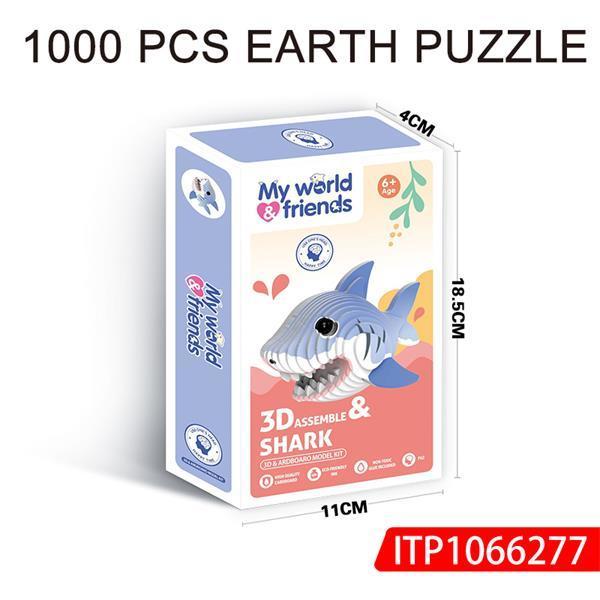 Shark Cardboard 3d Puzzle