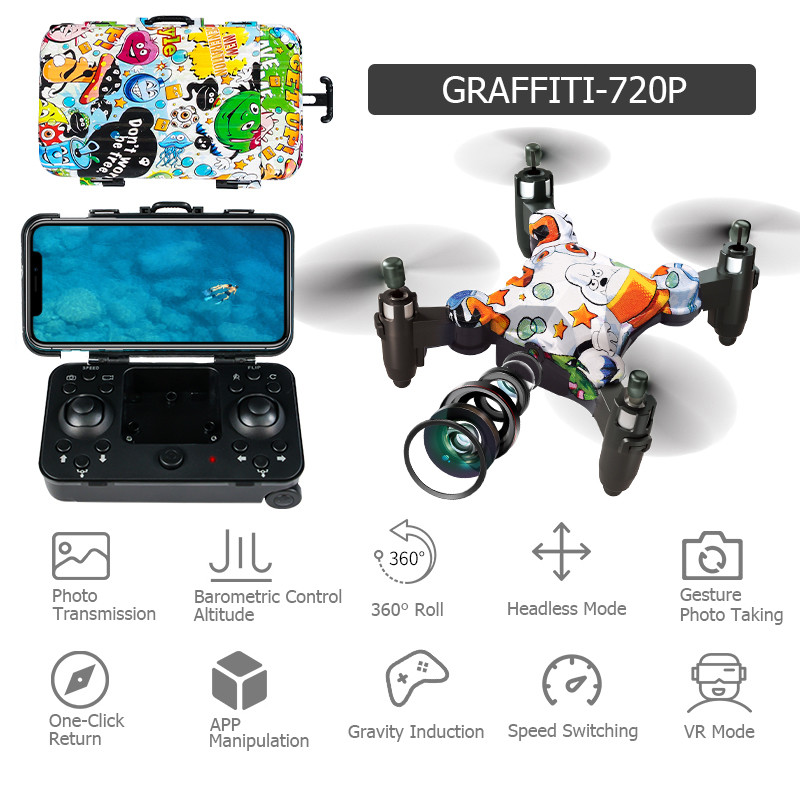 Best Mini Rc Drone Pocket MIni Drone Folding In Luggage Case
