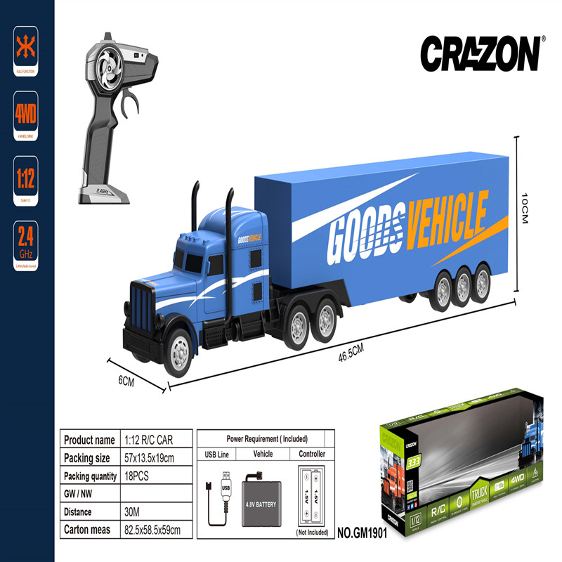 1:16 RC TRACTOR CARGO TRUCK WITH 4.8V-SN BATTERY