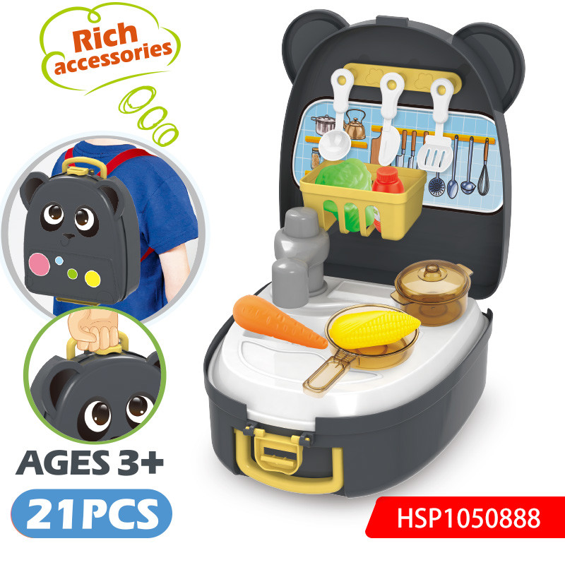 Kids Kitchen Set Convenience Kitchen Suitcase