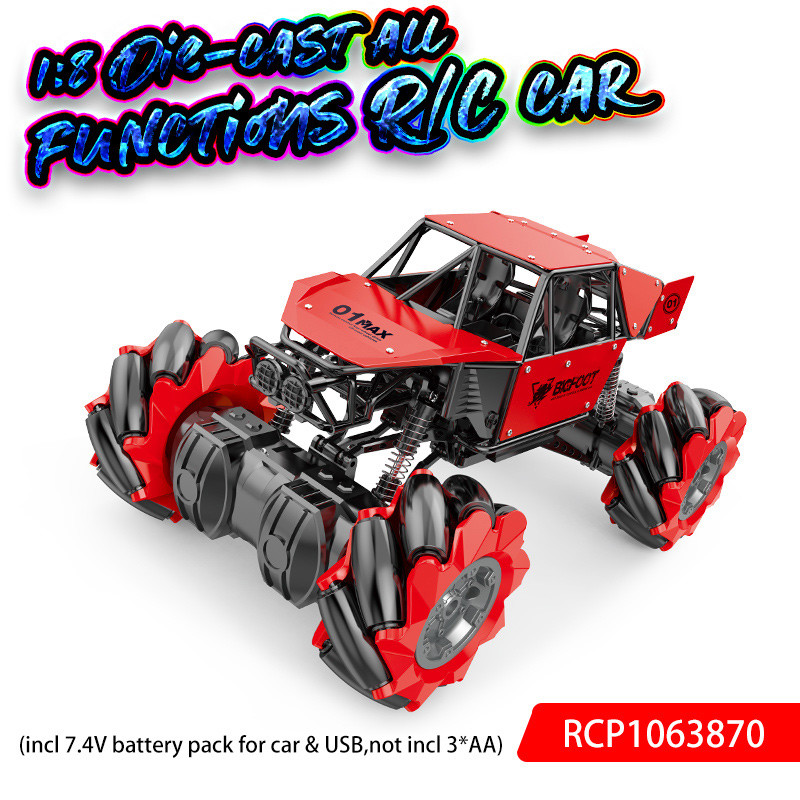 Custom Rc Cars 1:8 Die-Cast All Functions R/C Car