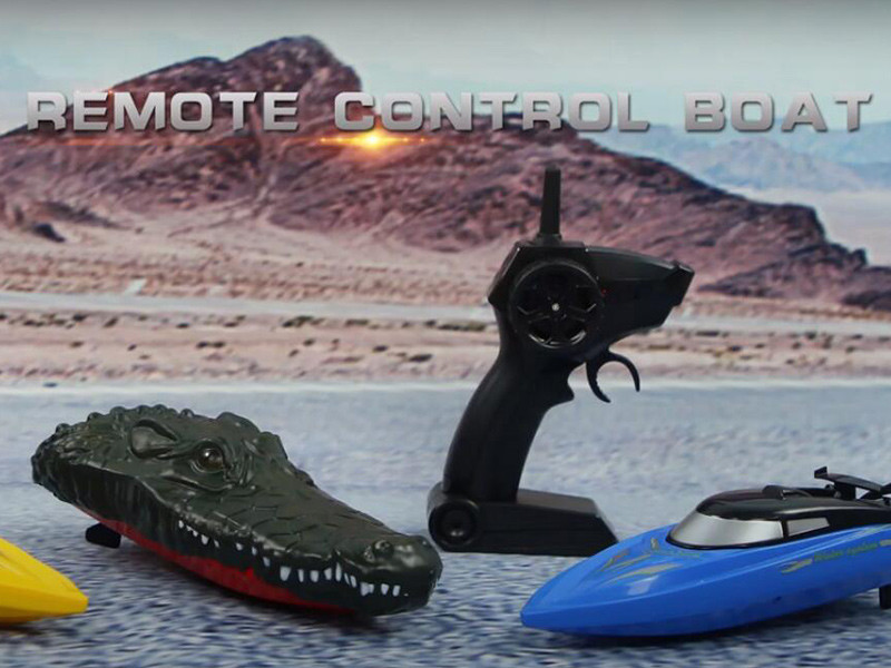 Alligator head remote control boat toys
