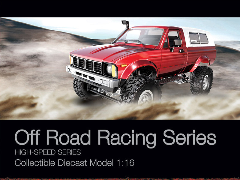 How powerful of the off-road racing series pickup trucks climbing?