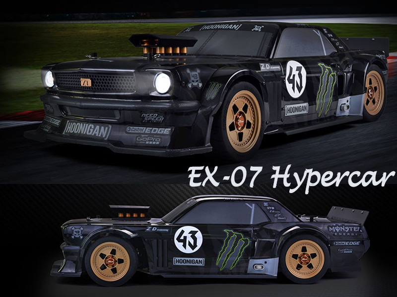 1/7 violent Mustang RC drift racing hypercar for professional hobby player
