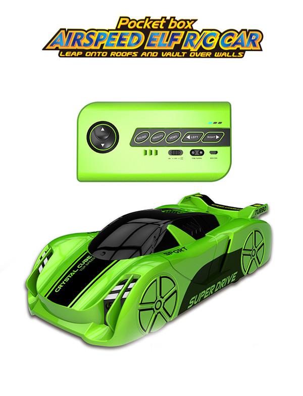 Pocket box remote control wall-climbing car