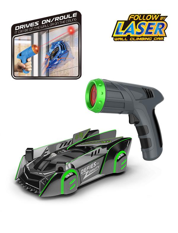 Infrared laser tracking wall-climbing car (following light sensor)