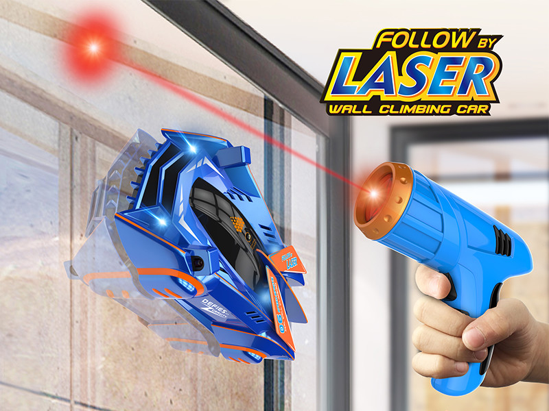 Infrared laser remote control car that climbs up walls.