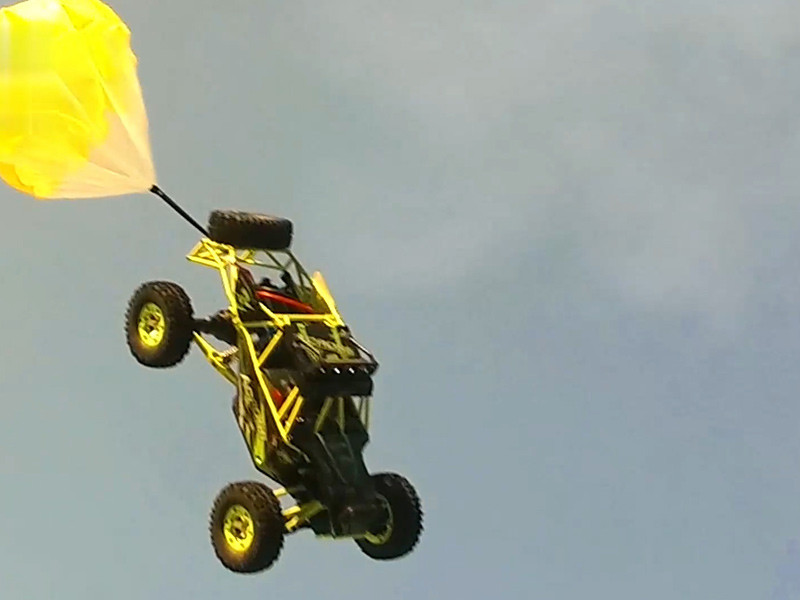 How strong power of RC car flying?