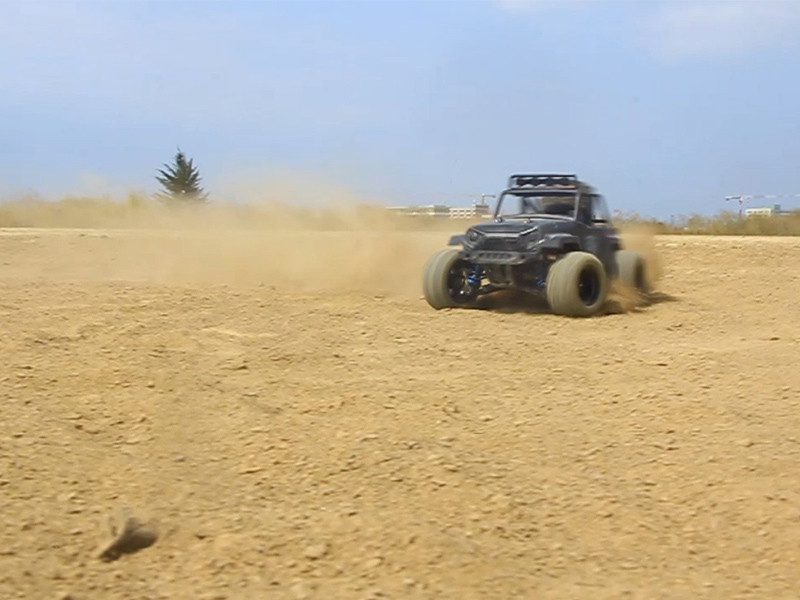 My off-road remote control car is running!