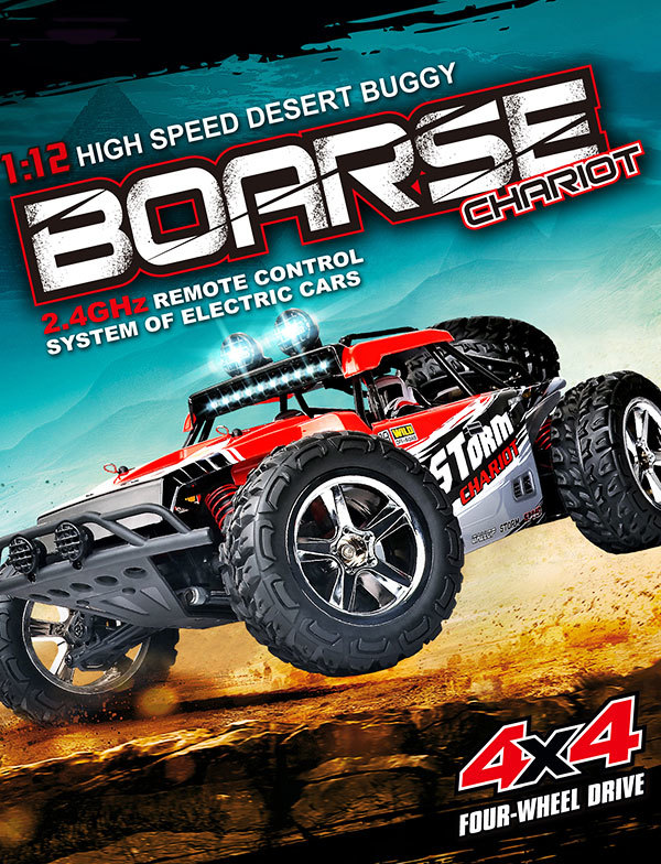 1:12 proportional 4WD High-speed race rc car